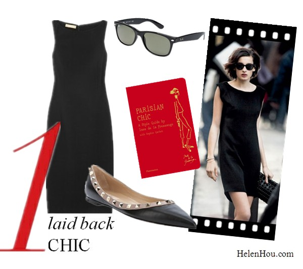 LBD,little black dress, how to accessorise black dress,what to wear with black dress, Parisian chic,Nine d'Urso, Michael Kors black dress, Michael Kors Wool-blend crepe dress,valentino SPIKE BALLERINA PUMPS,valentino studded shoes, ray ban sunglasses,Parisian Chic: A Style Guide  helenhou, helen hou, the art of accessorizing, accessoriseart, celebrity style, street style, lookbook, model off-duty,red carpet looks,red carpet looks for less, fashion, style, outfits, fashion guru, style guru, fashion stylist, what to wear, fashion expert, blogger, style blog, fashion blog,look of the day, celebrity look,celebrity outfit,designer shoes, designer cloth,designer handbag,