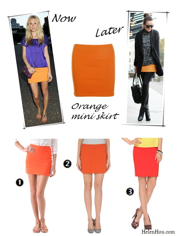 6697cf92c457 Orange Mini Skirt: Wear It Now and Later – Helen's Life & Style