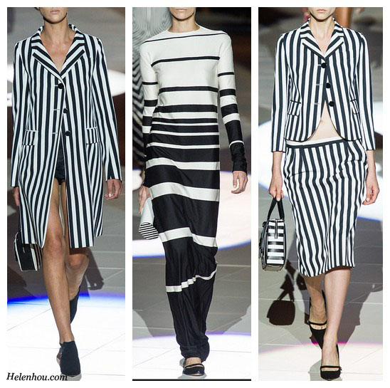 Marc Jacobs Spring 2013 RTW, new york fashion week, sprint 2013 ready to wear collection,striped coat, striped skirt, striped blazer, striped tee shirt, striped dress, black and white,  helenhou, helen hou, the art of accessorizing, accessoriseart, celebrity style, street style, lookbook, model off-duty,red carpet looks,red carpet looks for less, fashion, style, outfits, fashion guru, style guru, fashion stylist, what to wear, fashion expert, blogger, style blog, fashion blog,look of the day, celebrity look,celebrity outfit,designer shoes, designer cloth,designer handbag,