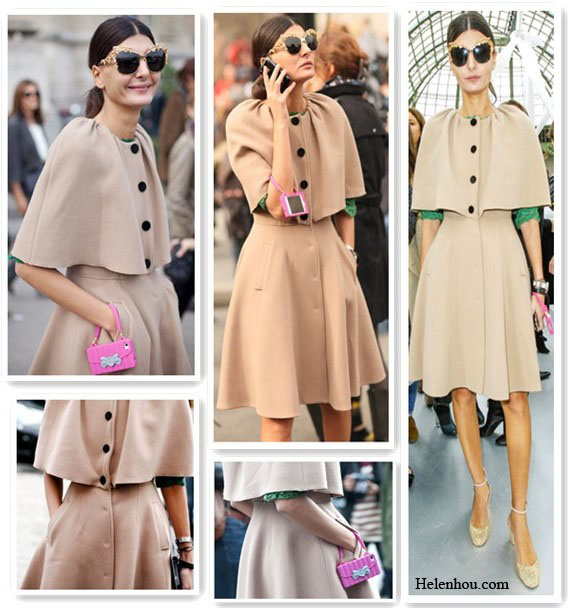 Giovanna Battaglia outfit, paris fashion week, Chanel Spring 2013, camel coat, pink iphone case, Anna Dello Russo for H m, embellished sunglasses, green lace top, metallic ankle strap pumps,  helenhou, helen hou, the art of accessorizing, accessoriseart, celebrity style, street style, lookbook, model off-duty,red carpet looks,red carpet looks for less, fashion, style, outfits, fashion guru, style guru, fashion stylist, what to wear, fashion expert, blogger, style blog, fashion blog,look of the day, celebrity look,celebrity outfit,designer shoes, designer cloth,designer handbag,