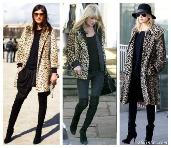 Emmanuelle Alt, Kate Moss, Nicole Richie, leaoprad coat, over the knee boots, fedora, aviator sunglasses, Christian Louboutin boots,how to wear leopard coat,  helenhou, helen hou, the art of accessorizing, accessoriseart, celebrity style, street style, lookbook, model off-duty,red carpet looks,red carpet looks for less, fashion, style, outfits, fashion guru, style guru, fashion stylist, what to wear, fashion expert, blogger, style blog, fashion blog,look of the day, celebrity look,celebrity outfit,designer shoes, designer cloth,designer handbag,