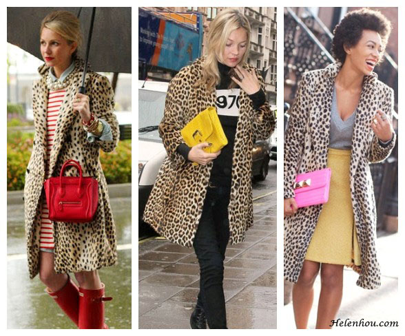 blogger Blair Eadie, Kate Moss,Solange Knowles,how to wear leopard coat, stripe shirt, red rain boots, pearl necklace, yellow clutch, 1970 tee shirt, pink clutch, yellow pencil skirt,   helenhou, helen hou, the art of accessorizing, accessoriseart, celebrity style, street style, lookbook, model off-duty,red carpet looks,red carpet looks for less, fashion, style, outfits, fashion guru, style guru, fashion stylist, what to wear, fashion expert, blogger, style blog, fashion blog,look of the day, celebrity look,celebrity outfit,designer shoes, designer cloth,designer handbag,