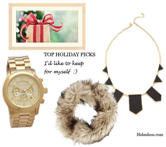 My Top Holiday Gift Picks For Every Family Member, Michael KorsMichael Kors Oversized Rose Gold Watch ,   MICHAEL Michael KorsFaux fur snood ,  House of Harlow 1960 Station Leather Necklace, helenhou, helen hou, the art of accessorizing, accessoriseart, celebrity style, street style, lookbook, model off-duty,red carpet looks,red carpet looks for less, fashion, style, outfits, fashion guru, style guru, fashion stylist, what to wear, fashion expert, blogger, style blog, fashion blog,look of the day, celebrity look,celebrity outfit,designer shoes, designer cloth,designer handbag,