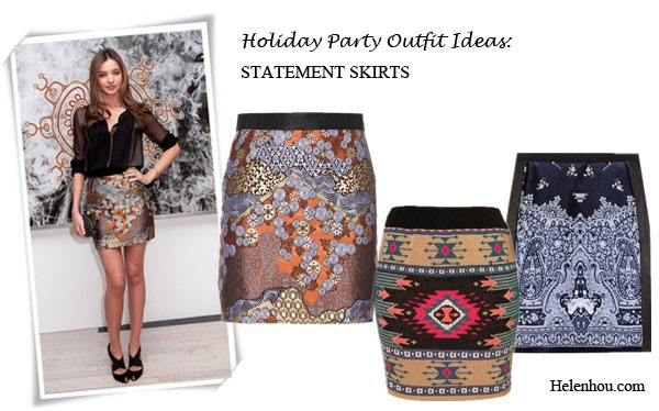 Holiday Party Outfit Ideas For Women Of Different Ages,how to wear sequin dress, what to wear to party,Poppy Delevingne, Miranda Kerr,Miroslava Duma, holiday party outfit, sequin dress, brocade skirt, colorblock, leather top,sheer blouse, statement necklace, studded clutch, box clutch, Proenza SchoulerBROCADE MINISKIRT,  TOPSHOPKnitted Aztec Mini Skirt ,   Free People Embroidered Denim Skirt in Surfs Up Wash , helenhou, helen hou, the art of accessorizing, accessoriseart, celebrity style, street style, lookbook, model off-duty,red carpet looks,red carpet looks for less, fashion, style, outfits, fashion guru, style guru, fashion stylist, what to wear, fashion expert, blogger, style blog, fashion blog,look of the day, celebrity look,celebrity outfit,designer shoes, designer cloth,designer handbag,