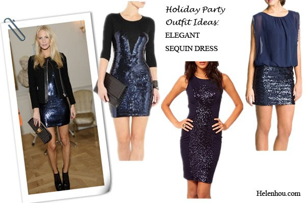 Holiday Party Outfit Ideas For Women Of Different Ages,how to wear sequin dress, what to wear to party,Poppy Delevingne, Miranda Kerr,Miroslava Duma, holiday party outfit, sequin dress, brocade skirt, colorblock, leather top,sheer blouse, statement necklace, studded clutch, box clutch, Sequin-paneled merino wool dress,  Elise RyanSequin Panel Bodycon Dress,  Aidan by Aidan Mattox Faux Two Piece Chiffon & Sequin Dress , helenhou, helen hou, the art of accessorizing, accessoriseart, celebrity style, street style, lookbook, model off-duty,red carpet looks,red carpet looks for less, fashion, style, outfits, fashion guru, style guru, fashion stylist, what to wear, fashion expert, blogger, style blog, fashion blog,look of the day, celebrity look,celebrity outfit,designer shoes, designer cloth,designer handbag,