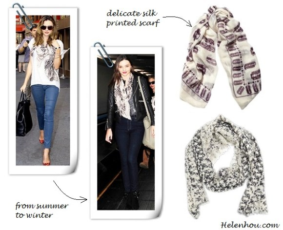 Miranda Kerr, Olivia Palermo , Stella McCartney,winter scarf, how to wear a winter scarf, how to choose scarf, grey scarf, brown infinity scarf,  Stella McCartney printed scarf, houndstooth printed jacket, silk square scarf, McQ Alexander McQueen Razor Blade-Print Scarf, Bone/Aubergine, WORN OUT ORB WOOL STOLE VIVIENNE WESTWOOD, ,   helenhou, helen hou, the art of accessorizing, accessoriseart, celebrity style, street style, lookbook, model off-duty,red carpet looks,red carpet looks for less, fashion, style, outfits, fashion guru, style guru, fashion stylist, what to wear, fashion expert, blogger, style blog, fashion blog,look of the day, celebrity look,celebrity outfit,designer shoes, designer cloth,designer handbag,