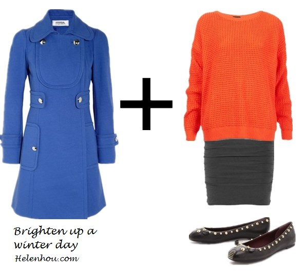 Taylor Swift, winter coat, what to wear with colored winter coat, camel coat, cobalt blue coat, green blue coat, red dress, nude pumps, color block, orange top, grey skirt, ballet flats, ankle boots,infinity scarf,  Sonia by Sonia RykielStretch-cotton twill coat,  Topshop Textured Knit Sweater ,  James PerseRuched slub-jersey mini skirt,  Marc by Marc JacobsMarc by Marc Jacobs Studded Mouse Flats ,    helenhou, helen hou, the art of accessorizing, accessoriseart, celebrity style, street style, lookbook, model off-duty,red carpet looks,red carpet looks for less, fashion, style, outfits, fashion guru, style guru, fashion stylist, what to wear, fashion expert, blogger, style blog, fashion blog,look of the day, celebrity look,celebrity outfit,designer shoes, d	esigner cloth,designer handbag,