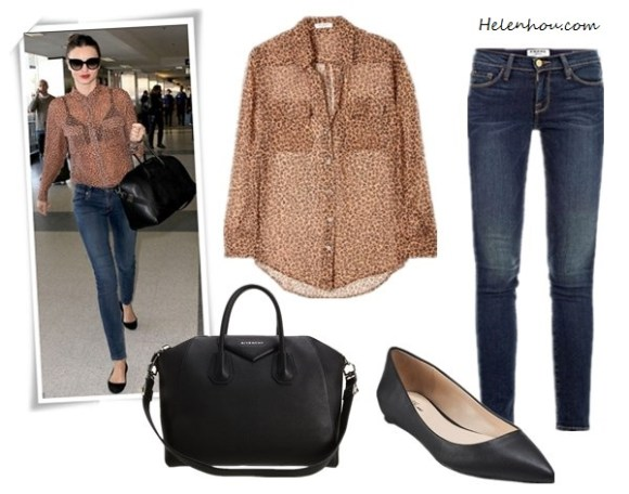 Miranda Kerr, Givenchy bag,Givenchy black pointy toe flats,Nobody Denim jeans,Rolex watch,Prada sunglasses,Equipment leoaprd shirt, Frame Denim Le Skinny Jeans ,  SplendidSplendid 1x1 Tank Top,  Givenchy Antigona ,   Prabal Gurung for Target® Pointy-Toe Flat - Black,  Equipment Eva Leopard Print Silk Shirt , helenhou, helen hou, the art of accessorizing, accessoriseart, celebrity style, street style, lookbook, model off-duty,red carpet looks,red carpet looks for less, fashion, style, outfits, fashion guru, style guru, fashion stylist, what to wear, fashion expert, blogger, style blog, fashion blog,look of the day, celebrity look,celebrity outfit,designer shoes, designer cloth,designer handbag,