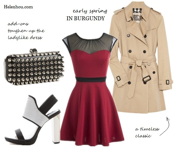 Blake Lively, burgundy Marios Schwab dress, Burberry coat,Bottega Veneta white pumps,Jennifer Meyer earrings, how to wear white shoes, what to wear with burgundy, No Brand ModCloth USBelle in Burgundy Dress,  Burberry London Double Breasted Cotton Trench, Natasha Couture Studded Clutch ,  BCBGMAXAZRIA Jovian black and white High Heel Sandals,  helenhou, helen hou, the art of accessorizing, accessoriseart, celebrity style, street style, lookbook, model off-duty,red carpet looks,red carpet looks for less, fashion, style, outfits, fashion guru, style guru, fashion stylist, what to wear, fashion expert, blogger, style blog, fashion blog,look of the day, celebrity look,celebrity outfit,designer shoes, designer cloth,designer handbag,
