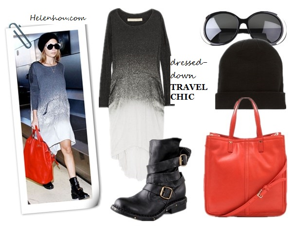Nicole Richie , street style, how to wear red, red bag, Raquel Allegra Laddered Tie-Dye Cotton-Blend Jersey Dress,Givenchy Nightingale red Bag,Balenciaga black patent leather ankle boots ,statement House of Harlow sunglasses, black beanie, black sweater, two tone tote, black and red bag, faux wrap skirt, Asymmetrical hemline,menswear shoes,  Raquel AllegraLaddered tie-dye cotton-blend jersey dress, Tory Burch Violet Small Tote,  Jeffrey Campbell Brit Wrap Strap Booties, ASOSBoyfriend Knit Beanie,  House of Harlow 1960 sunglasses Nicole,  helenhou, helen hou, the art of accessorizing, accessoriseart, celebrity style, street style, lookbook, model off-duty,red carpet looks,red carpet looks for less, fashion, style, outfits, fashion guru, style guru, fashion stylist, what to wear, fashion expert, blogger, style blog, fashion blog,look of the day, celebrity look,celebrity outfit,designer shoes, designer cloth,designer handbag,
