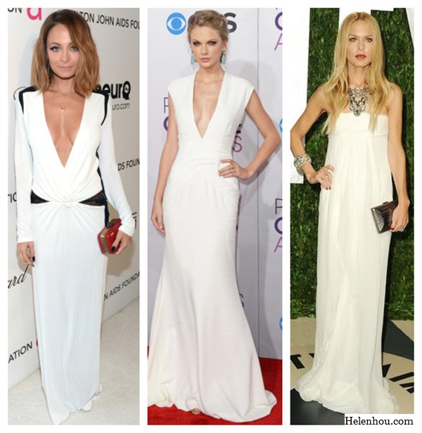 Nicole Richie, Taylor Swift ,Rachel Zoe,2013 Elton John AIDS Foundation Oscars party,House of Harlow 1960 Olivia Clutch ,Roberto Cavalli dress,Jerome C. Rousseau shoes,black and white dress, Turquoise necklace, bold statement necklace, how to accessories white dress,  helenhou, helen hou, the art of accessorizing, accessoriseart, celebrity style, street style,   lookbook, model off-duty,red carpet looks,red carpet looks for less, fashion, style, outfits,   fashion guru, style guru, fashion stylist, what to wear, fashion expert, blogger, style blog,   fashion blog,look of the day, celebrity look,celebrity outfit,designer shoes, designer   cloth,designer handbag,