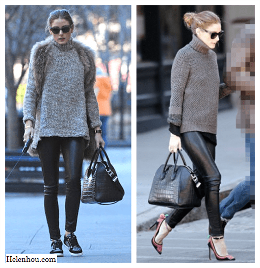 Olivia Palermo, street style,Wunderkind sunglasses, Givenchy bag, Cartier bracelet, Jimmy Choo leather sneaker, westside leaning sunglasses,Daryl K leather skinny pants, LK Bennett ankle strap pump,from day to night,  helenhou, helen hou, the art of accessorizing, accessoriseart, celebrity style, street style, lookbook, model off-duty,red carpet looks,red carpet looks for less, fashion, style, outfits, fashion guru, style guru, fashion stylist, what to wear, fashion expert, blogger, style blog, fashion blog,look of the day, celebrity look,celebrity outfit,designer shoes, designer cloth,designer handbag,
