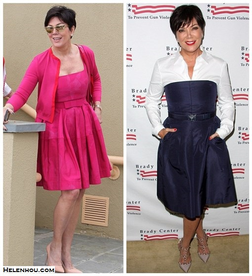 Kris Jenner, stylish in 50s, how to wear pink, shirt with dress, cocktail dress, how to wear one color head to toe,Tom Ford Natalia Bag,Yves Saint Laurent Clara 105 Pointed Pumps, nude light pink pump,Tom Ford Nastasya Sunglasses, cat eye sunglasses, Lanvin Floral Swing Dress, pink dress, pink cardigan, black nails, white botton-down shirt, navy silk cocktail dress, valentino studded strappy pump, blue belt, red lips, same outfit with your daught mom, ageless outfit idea, party outfit idea,    helenhou, helen hou, the art of accessorizing, accessoriseart, celebrity style, street style, lookbook, model off-duty,red carpet looks,red carpet looks for less, fashion, style, outfits, fashion guru, style guru, fashion stylist, what to wear, fashion expert, blogger, style blog, fashion blog,look of the day, celebrity look,celebrity outfit,designer shoes, designer cloth,designer handbag,