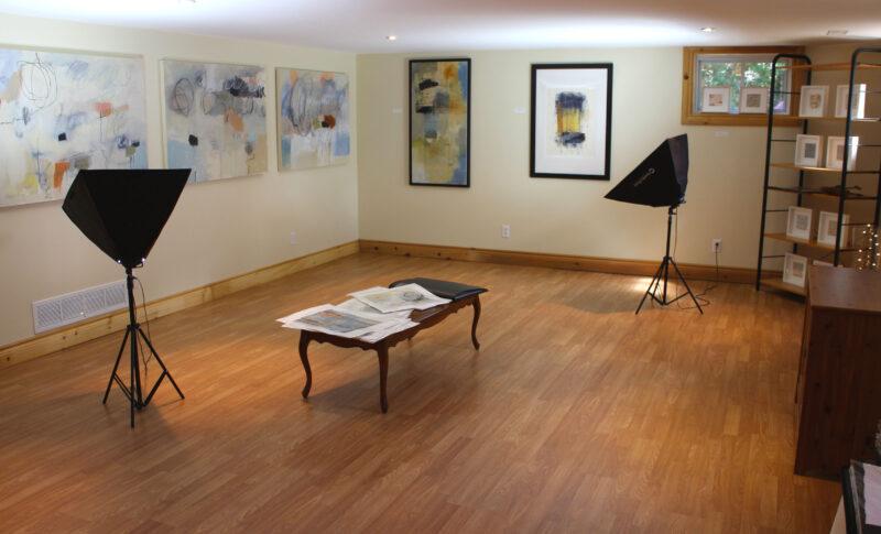 Studio transformed into Gallery