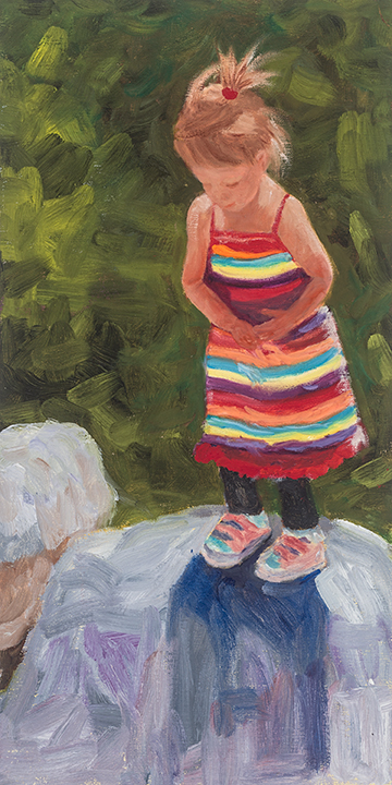 Dol Dare, oil on canvas, Painter Helen Matthews