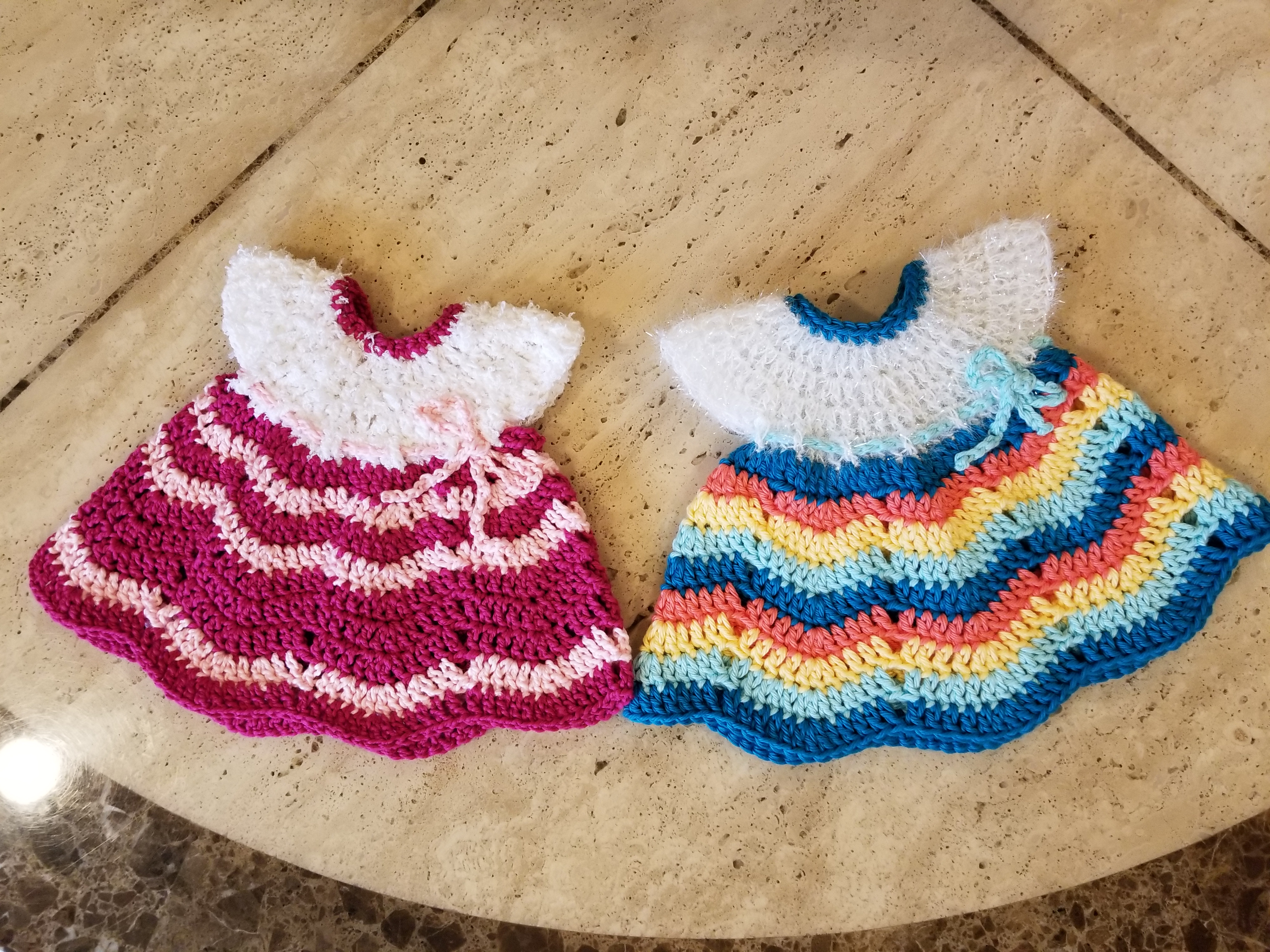 Crochet Quick Easy Beginner Fiesta Ripple Potholder Or