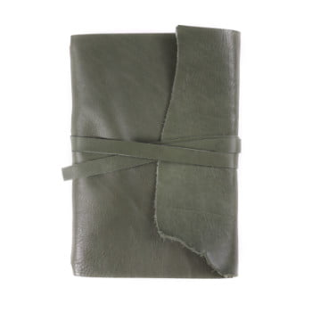 A5 Discovery Wrap Moss Tie leather cover