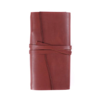 Slim Discovery Wrap Cognac Tie leather cover