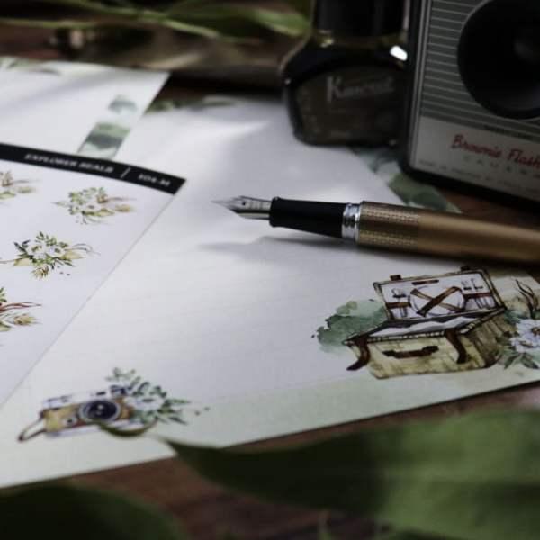 letter writing stationery explorer set close up