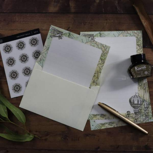 social stationery discovery set for pen pals