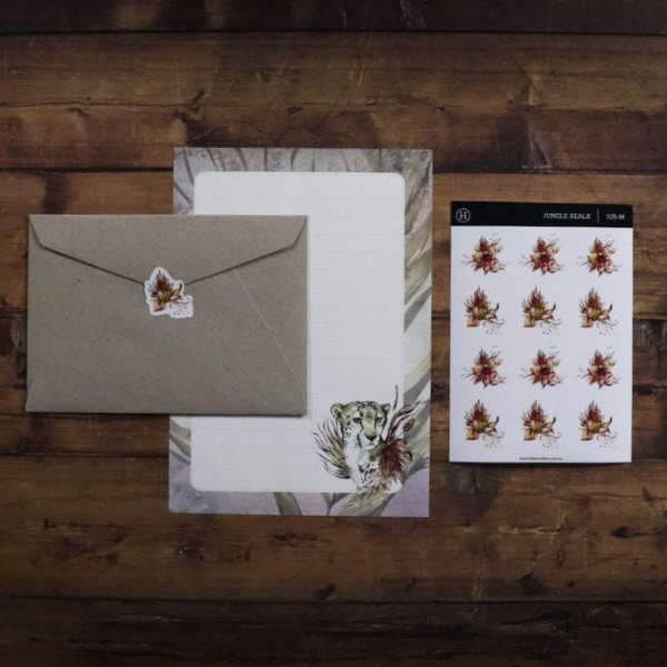 social stationery jungle set with envelopes and letter writing paper