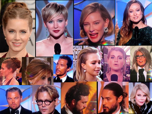 Golden Globes Boring Hair - 2014
