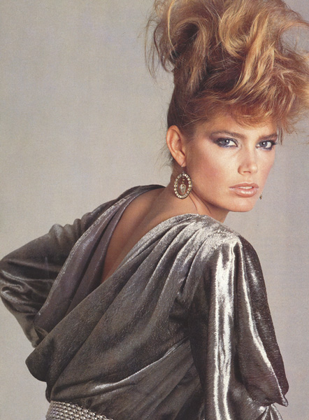 Super Model Kelly Emberg, Hair Harry King - 1980