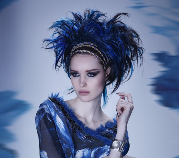 Holiday Hair in Hues of Moody Blues - 2014