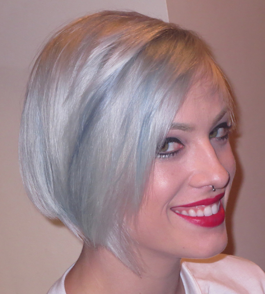 Bauhaus Bob, Gorgeous Grey Blue Colors - 2015