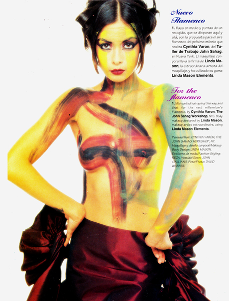 Body Painting by Linda Mason - 1996