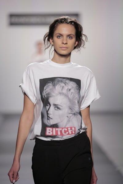 Bitch T-Shirt On Model - 2017