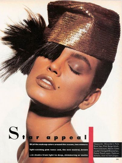 """Star Appeal"" Cindy Crawford Vogue – 1987"