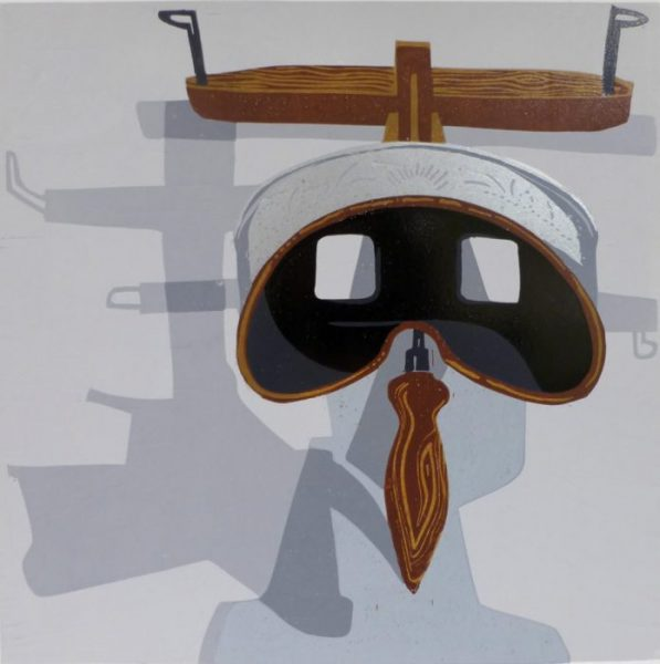Stereoscope – 10 Colour Reduction Linocut