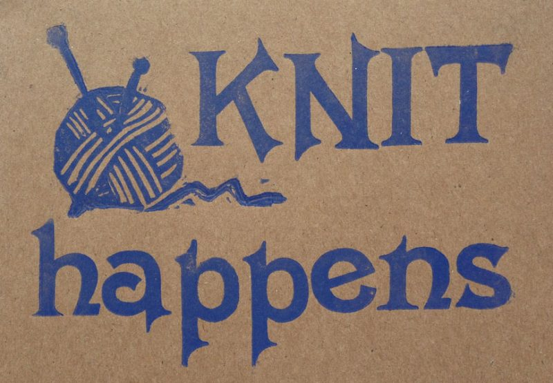 Letterpress Card – Yarndale Knit Happens