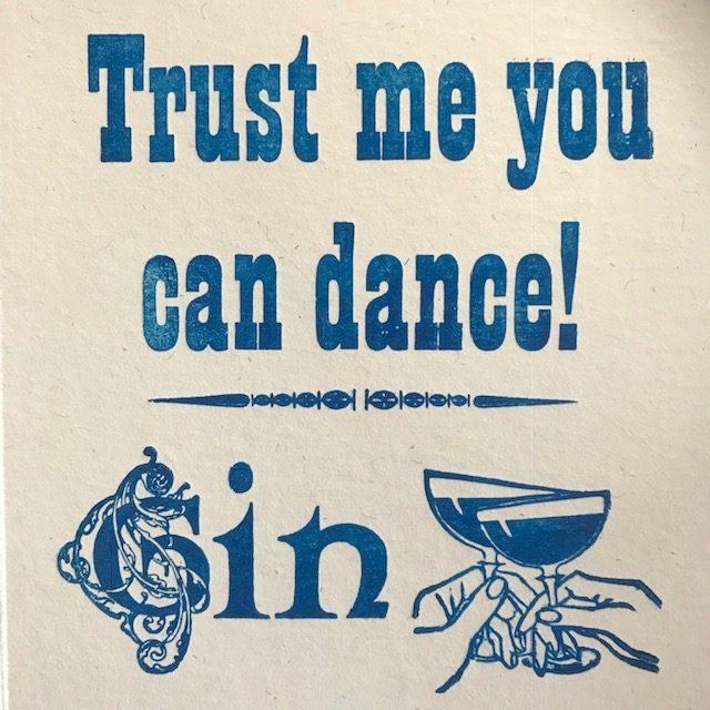 Letterpress Card – Gin