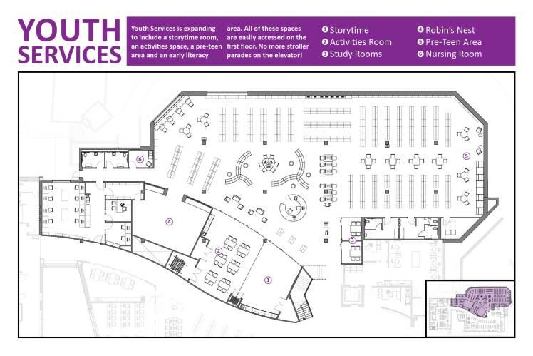 Youth Services Floorplan