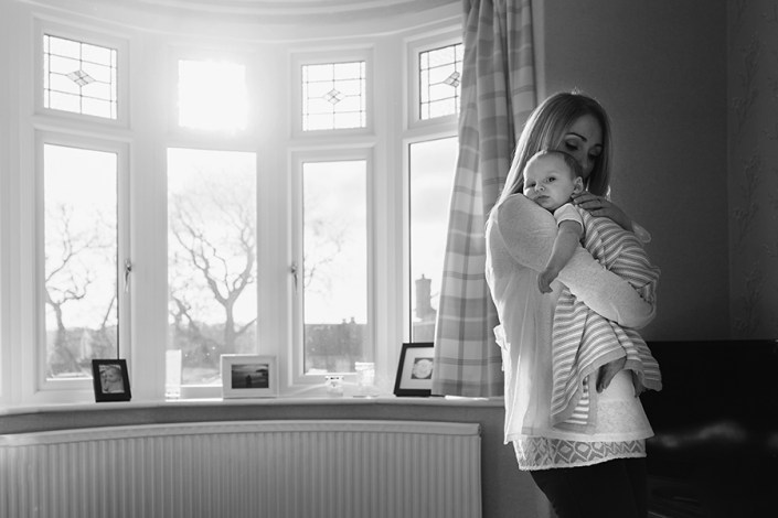 Helen Rowan Photography Chesterfield Newborn Home Baby window light home bay