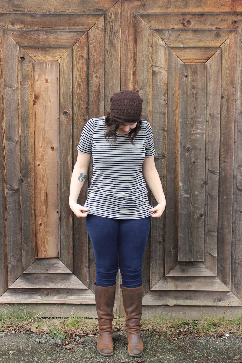 Grainline Studio Lark Tee by Helen's Closet