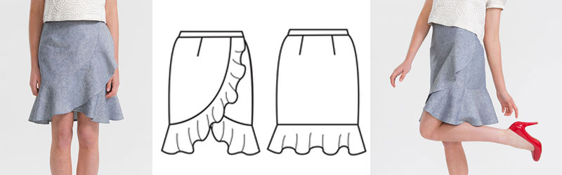 Adrift skirt by Papercut Patterns