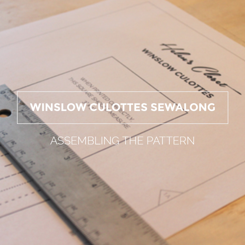 Winslow Culottes Sewalong