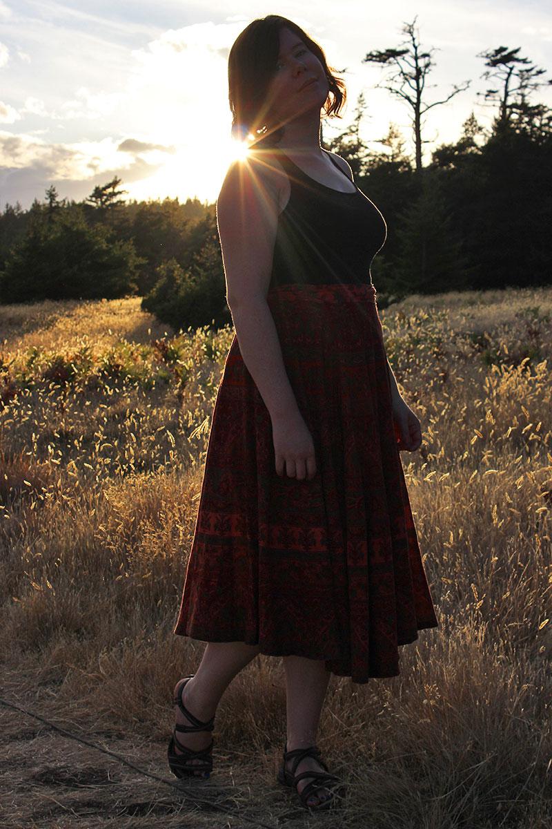 DIY circle skirt by Helen's Closet