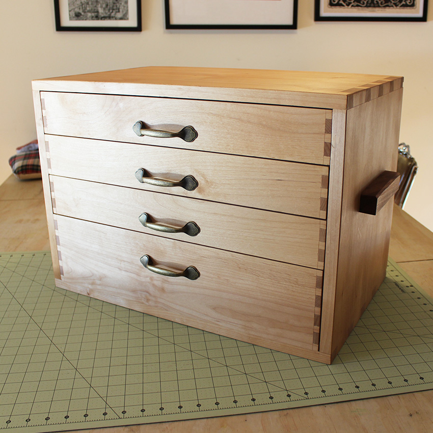 DIY Sewing Storage Chest