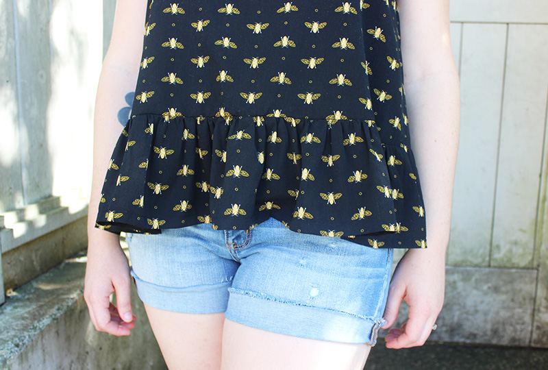 Sewaholic Saltspring Bees Camisole Hack by Helen's Closet