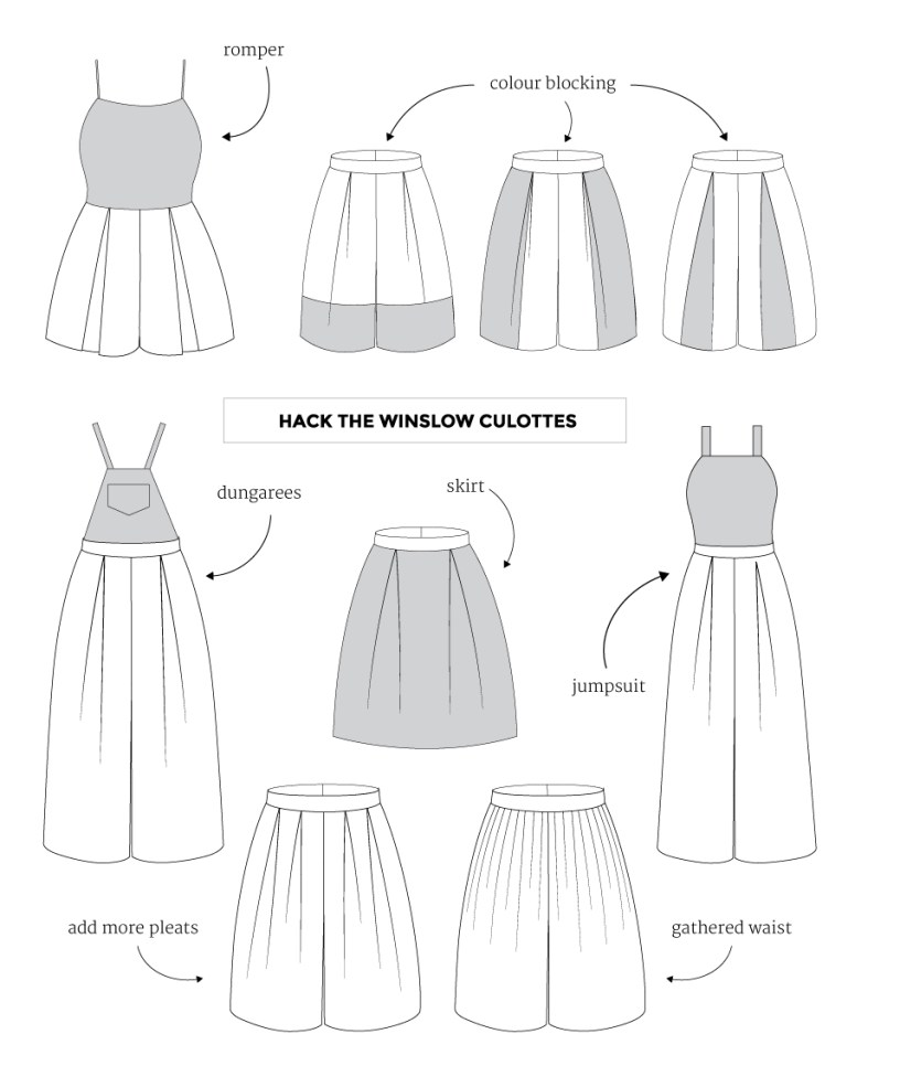 Winslow Culottes Hacks