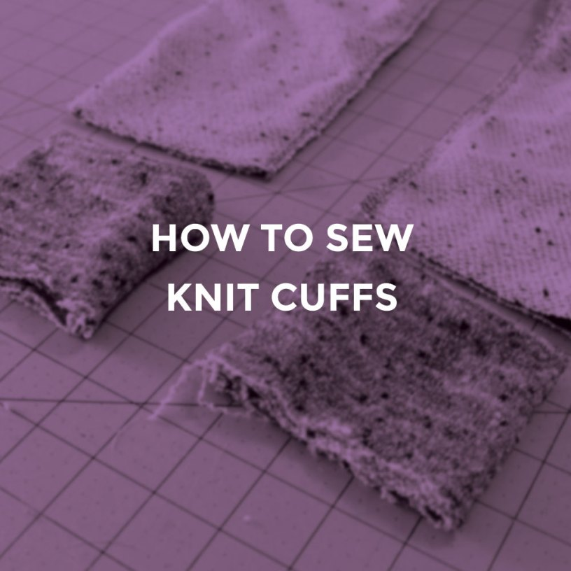 Sewing knit cuffs