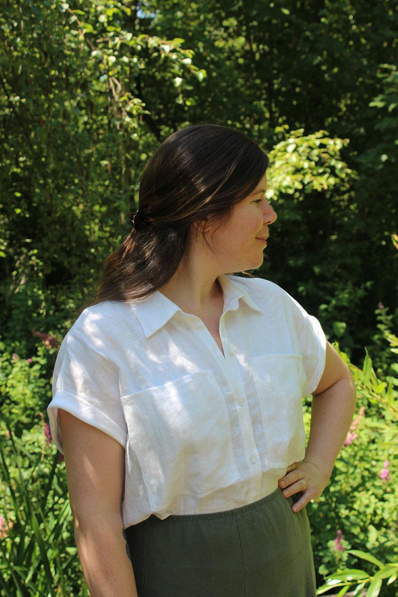 White Linen Blaire Shirt Cheyanne Tunic