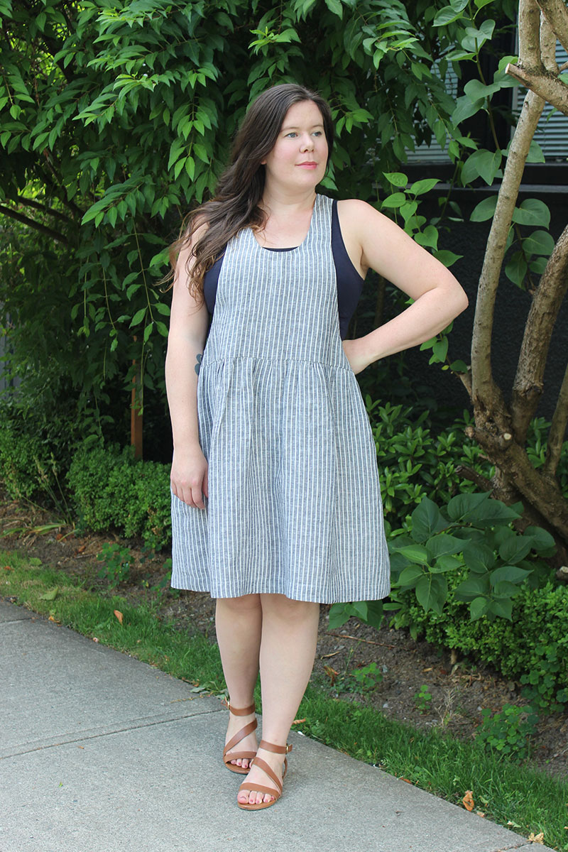York Pinafore Gathered Waist