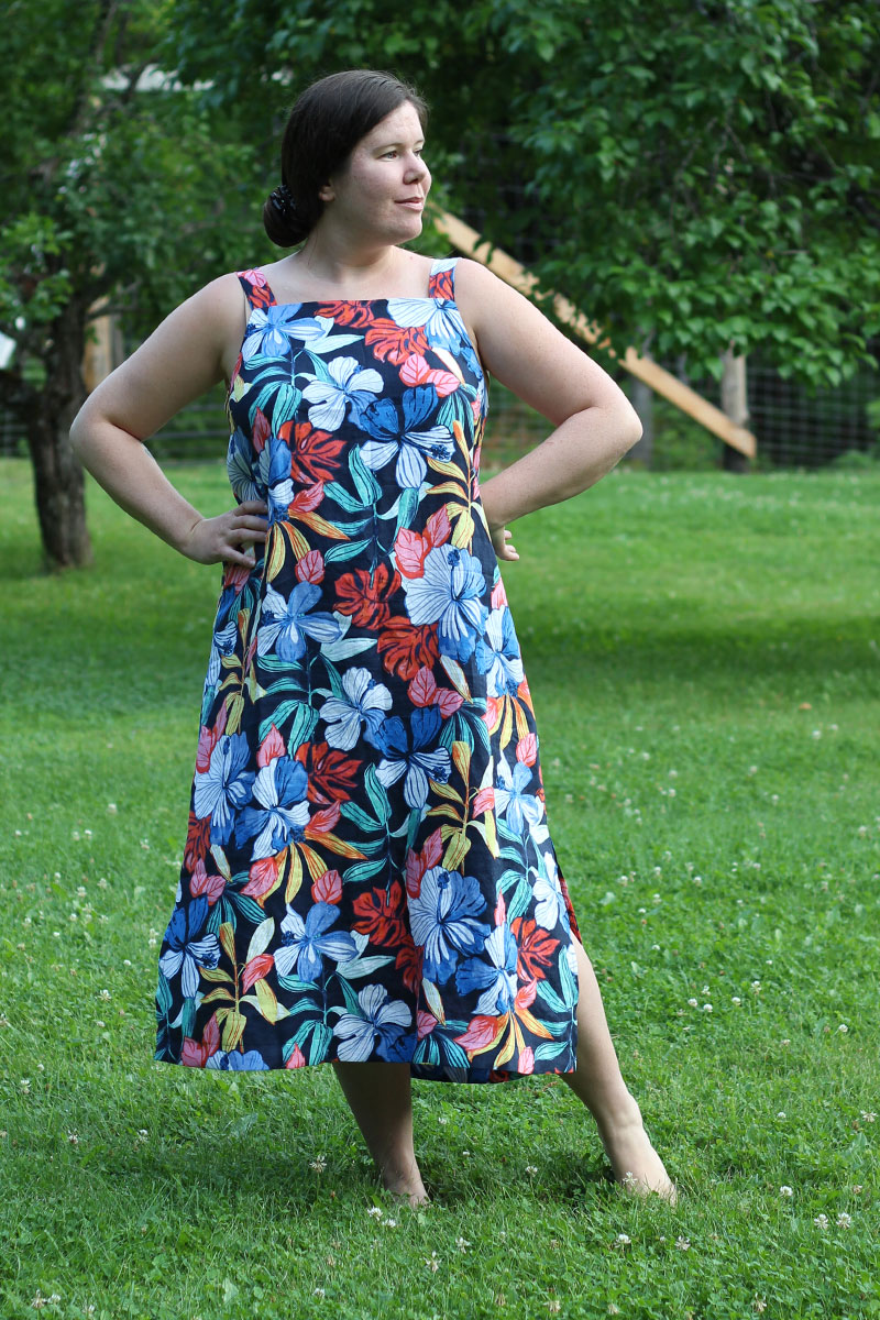 Long Floral Linen Dress by Helen's Closet