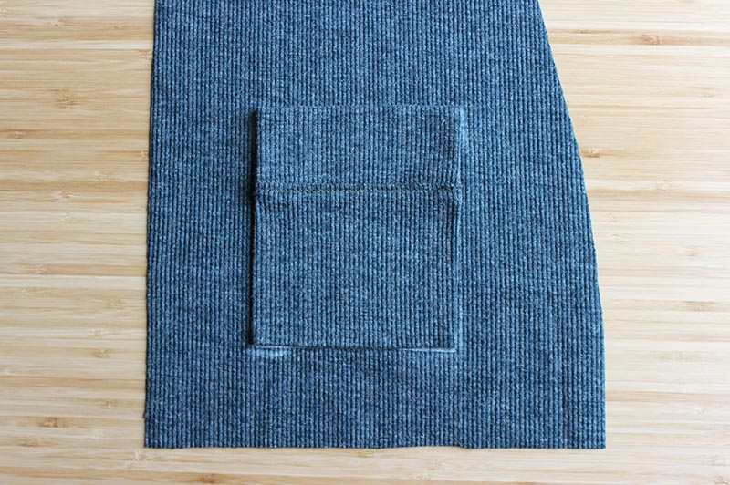 Blackwood Cardigan perfect pocket using Wonder Tape