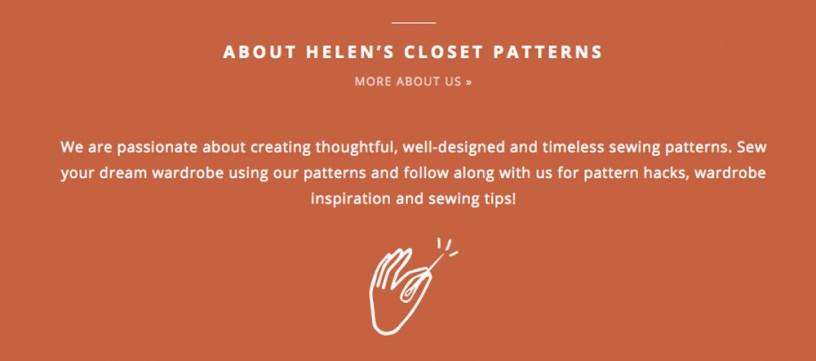 About Helen's Closet Patterns